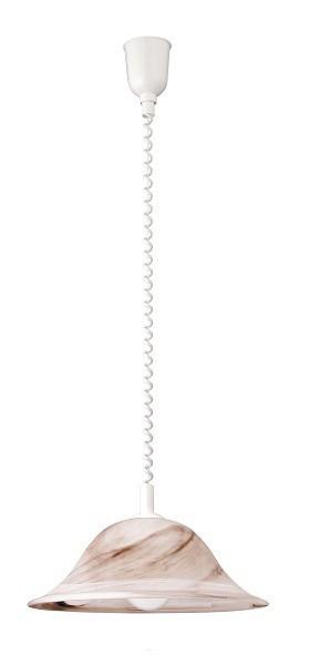 Alabastro - Stropné osvetlenie, E27 (tabáková alabastrová/biela)
