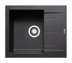 Alazia-Granitový drez 59x50,čierna