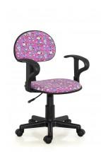 Alfred - detská stolička (ružová)