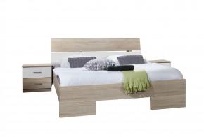 Alina - Komplet 4, posteľ 180 cm (dub, alpská biela)