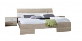 Alina - Komplet 6, posteľ 140 cm (dub, alpská biela)