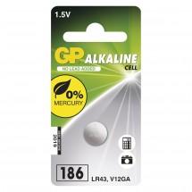 Alkalická gombíková batéria GP LR43 (186F), 1 ks
