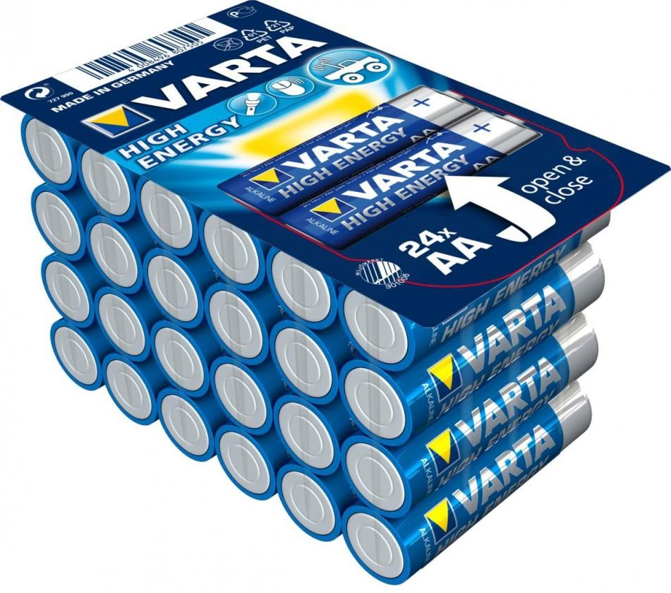 Alkalické batérie Alkalické batérie VARTA HIGH ENERGY AA 24ks