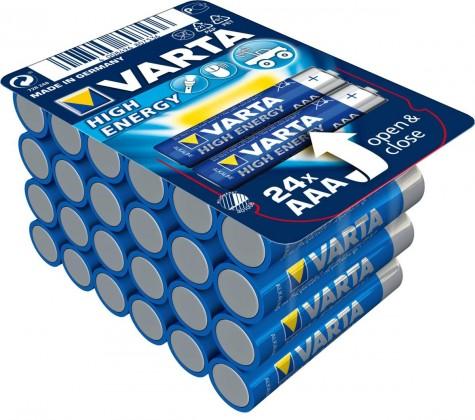 Alkalické batérie Alkalické batérie VARTA HIGH ENERGY AAA 24ks