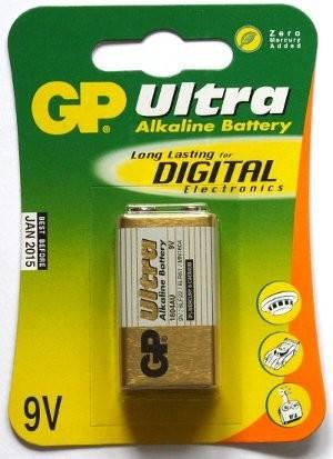 Alkalické batérie Batéria GP Ultra Plus, 9V
