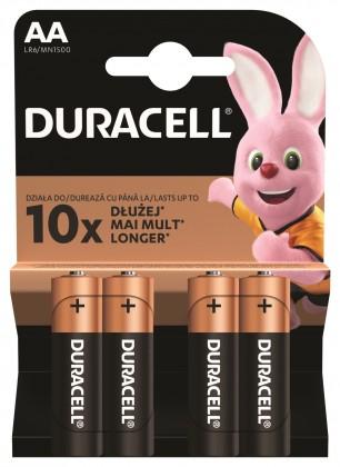 Alkalické batérie Batérie Duracell Basic, AA, 4ks