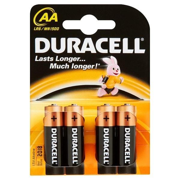 Alkalické batérie Baterie Duracell Basic AA 4ks