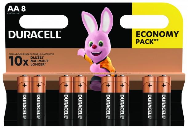 Alkalické batérie Batérie DURACELL Basic,AA,8 ks