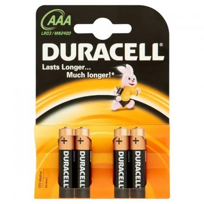 Alkalické batérie Baterie Duracell Basic AAA 4ks