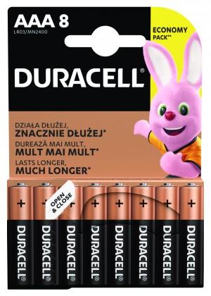 Alkalické batérie Batérie DURACELL Basic,AAA,8 ks