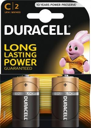 Alkalické batérie Baterie Duracell Basic LR14 2 ks (10PP100008)