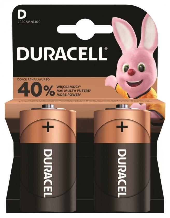 Alkalické batérie Baterie Duracell Basic LR20 2ks