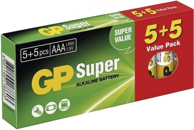 Alkalické batérie Baterie GP Super Alkaline AAA 10ks