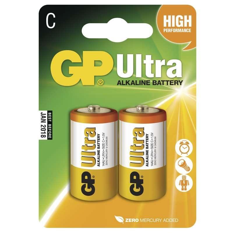 Alkalické batérie Batérie GP Ultra Alkaline, C, 2ks