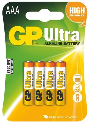 Alkalické batérie Batérie GP Ultra Plus, AAA, 4ks