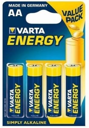 Alkalické batérie Batérie VARTA ENERGY tužkové AA 4ks