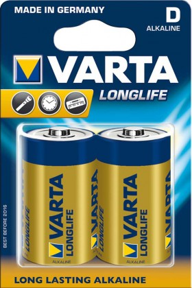 Alkalické batérie Baterie VARTA Longlife D
