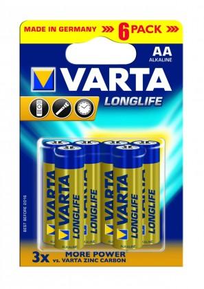 Alkalické batérie Batérie Varta Longlife Extra AA 6ks
