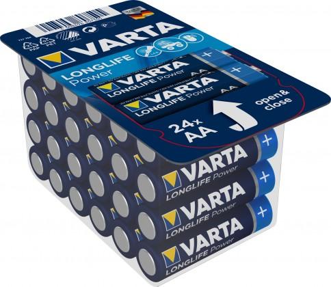 Alkalické batérie Batérie Varta Longlife Power, AA, 24ks