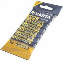 Alkalické batérie Varta longlife AA 8 ks