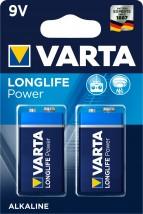 Alkalické batérie VARTA LONGLIFE Power 9V, 2ks