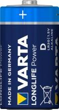 Alkalické batérie VARTA LONGLIFE Power D, 4ks