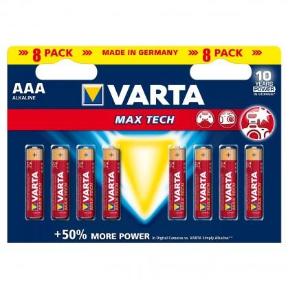 Alkalické batérie Varta Maxtech 8xAAA