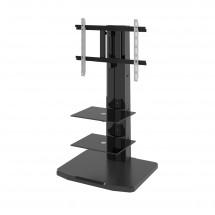 Alladyn - TV stolík s držiakom (čierna)