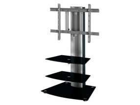Alladyn - TV stolík s držiakom (čierna/strieborná)