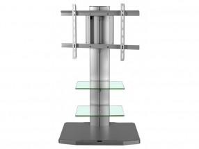 Alladyn - TV stolík s držiakom (strieborná)