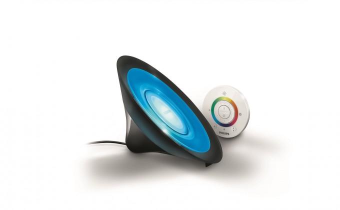 Aloha - Lampička LED, 16,5cm (čierna)
