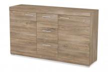 Alvaro - Komoda, 2x dvere, 3x zásuvka (stirling)