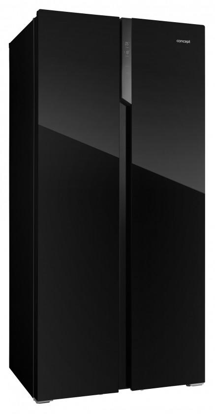Americká chladnička Americká chladnička Concept LA7383bc černé sklo