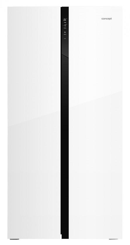 Americká chladnička Americká chladnička Concept LA7383wh bílé sklo