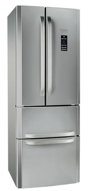 Americká chladnička Hotpoint E 4D GAAAXO 3 VADA VZHĽADU, ODRENINY