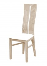 Andre I - jedálenská stolička (drevo - dub sonoma/poťah - syntetická koža)
