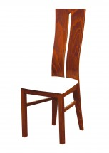 Andre I - jedálenská stolička (drevo - svetlý orech/poťah - syntetická koža)