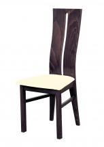 Andre I - jedálenská stolička (drevo - tmavý orech/poťah - látka)