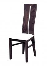 Andre I - jedálenská stolička (drevo - tmavý orech/poťah - syntetická koža)