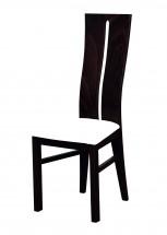 Andre I - jedálenská stolička (drevo - wenge/poťah - syntetická koža)