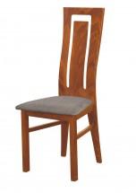 Andre II - jedálenská stolička (drevo - svetlý orech/poťah - látka)