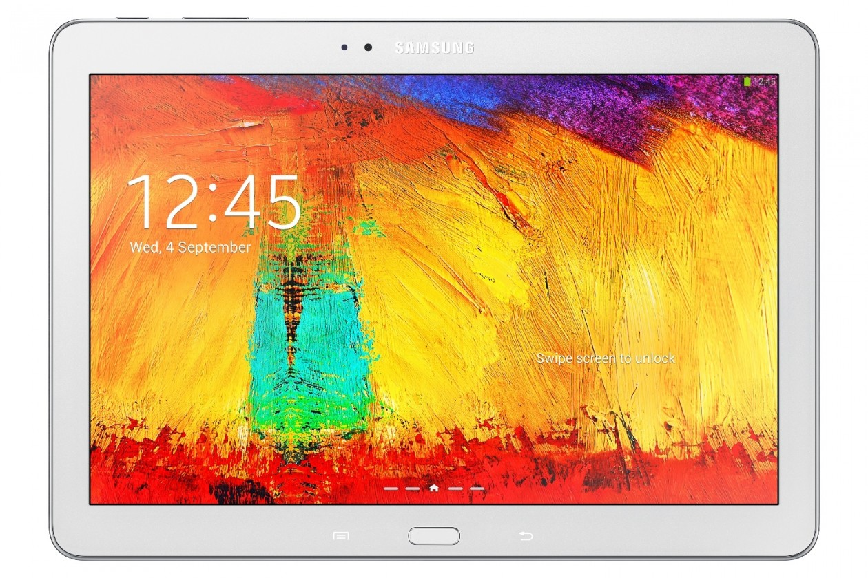 Android Samsung Galaxy Note 10.1 (SM-P6050), biely
