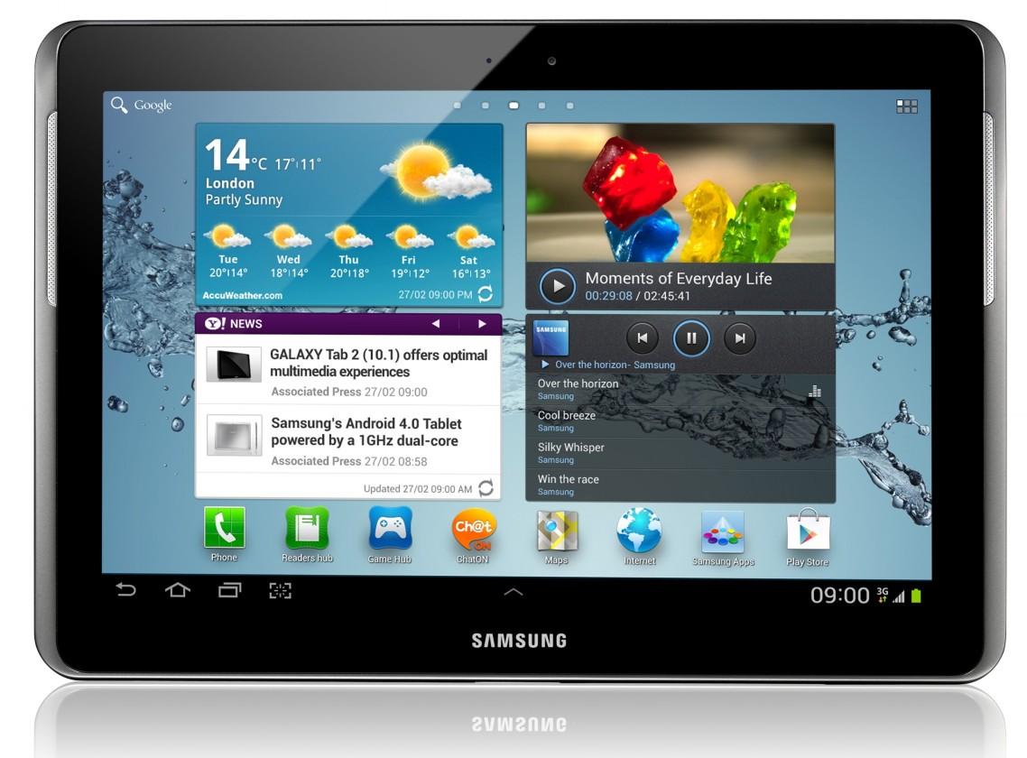 Android Samsung Galaxy Tab 2 10.1 (P5100), strieborný