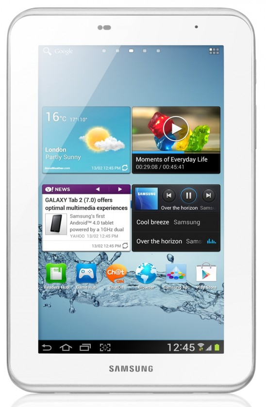 Android Samsung Galaxy Tab 2 7.0 (P3100), biely