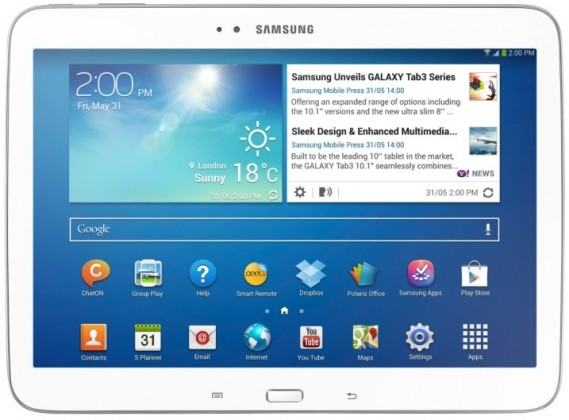 Android Samsung Galaxy Tab 3 10.1 (P5210), biely