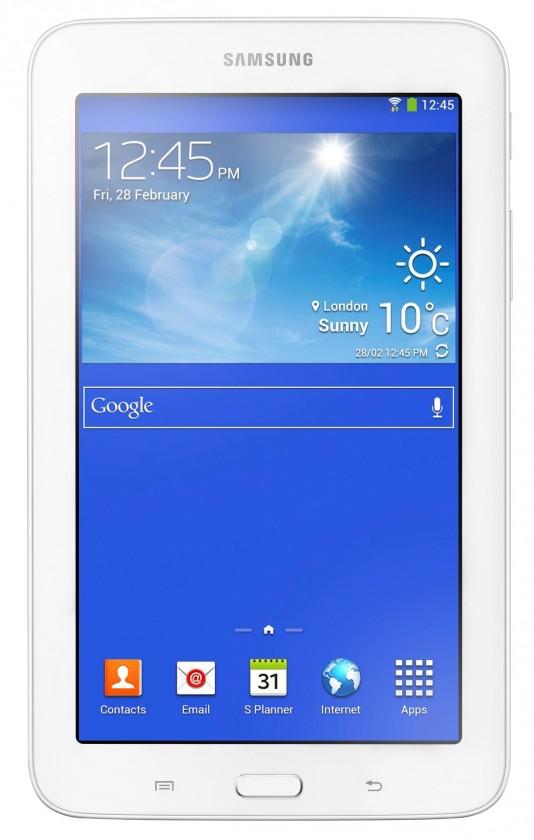 Android Samsung Galaxy Tab 3 Lite (SM-110), biely