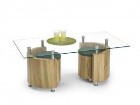 Angel - Konferenčný stolík (dub sonoma/sivá)