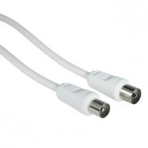 Anténny kábel Hama 42966, 75 dB, biely, 15 m