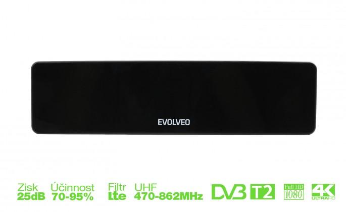 Antény EVOLVEO Cube HD, aktívna izbová DVB-T/T2 anténa