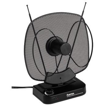 Antény Hama aktívna interná anténa VHF/UHF/FM, 40dB, čierna